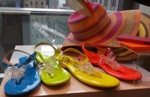 HSN neon thong sandals