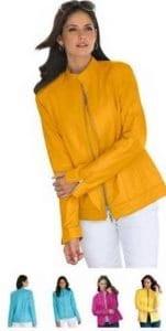 jl leather jacket yellow