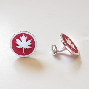 maple leaf cufflinks view 2 - Copy