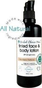 herbal choice mari tinted body lotion