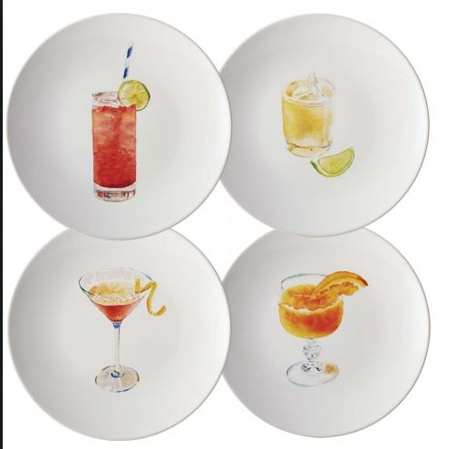 rachel ray 4 piece party plate set stoneware
