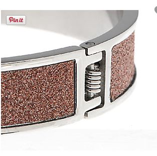 QVC GLITTER BANGLE HINGE