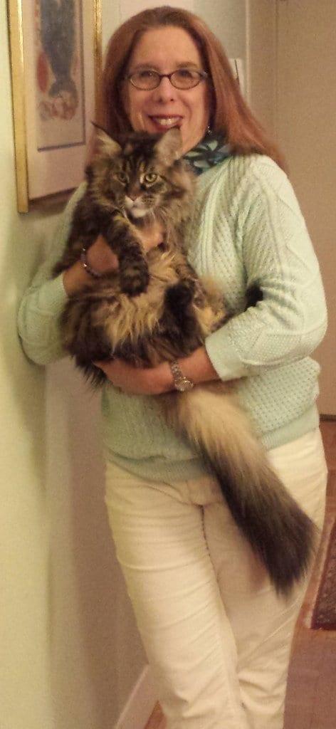 alison blackman and her cat nike model lands end pastels