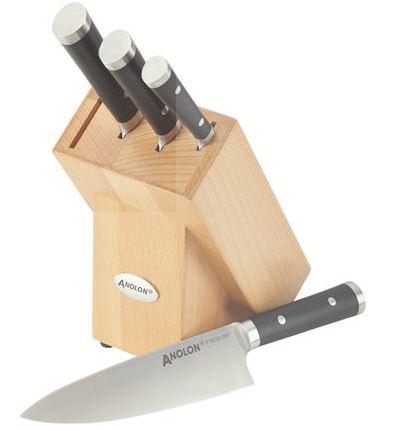 analon knife set in block