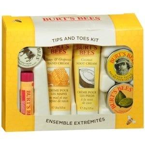 burts bees holiday tips and toes set
