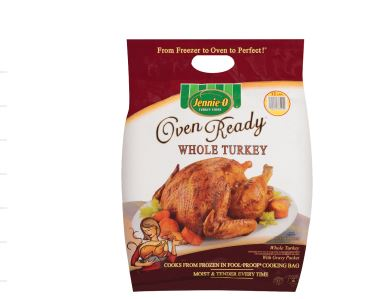 you don't have to defrost or season this turkey from Jenni-O just pop it in the oven