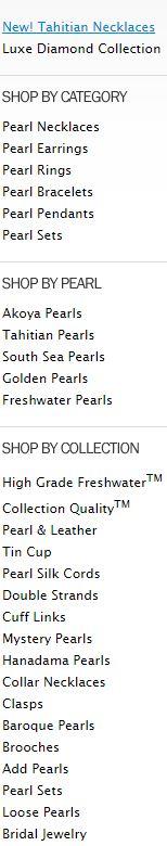 list of pearl options on american pearl