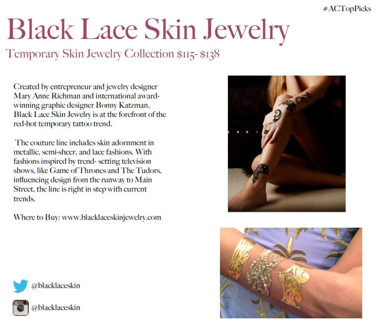 BLACK LACE SKIN JEWELRY