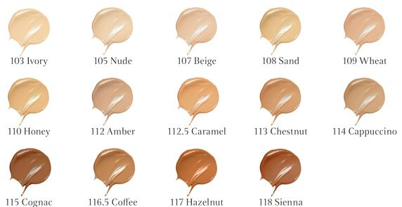 clarins everlasting foundation color chart
