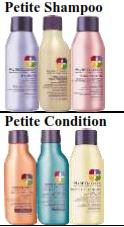 pureology mini shampoo and conditioner