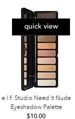 elf need it nude eye shadow palette