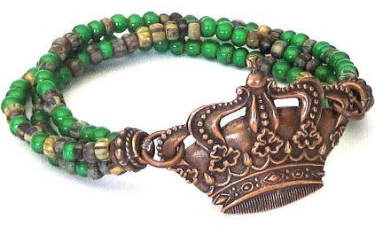 sassy belle Wares triple crown bracelet side view