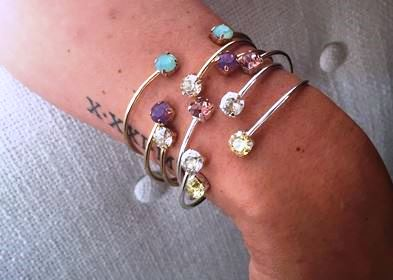 swarovski gem bangles by Isabelle Grace