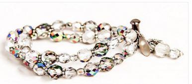 mmills clear uv detercton double diamond and rainbows bracelet