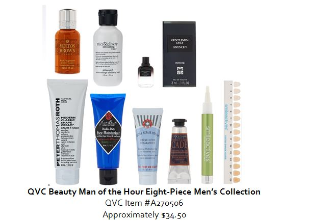 QVC man of the hour holiday gift set