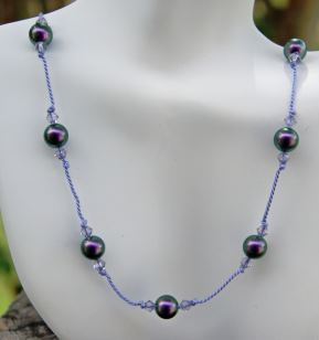 holiday lights necklace by marybeth rich