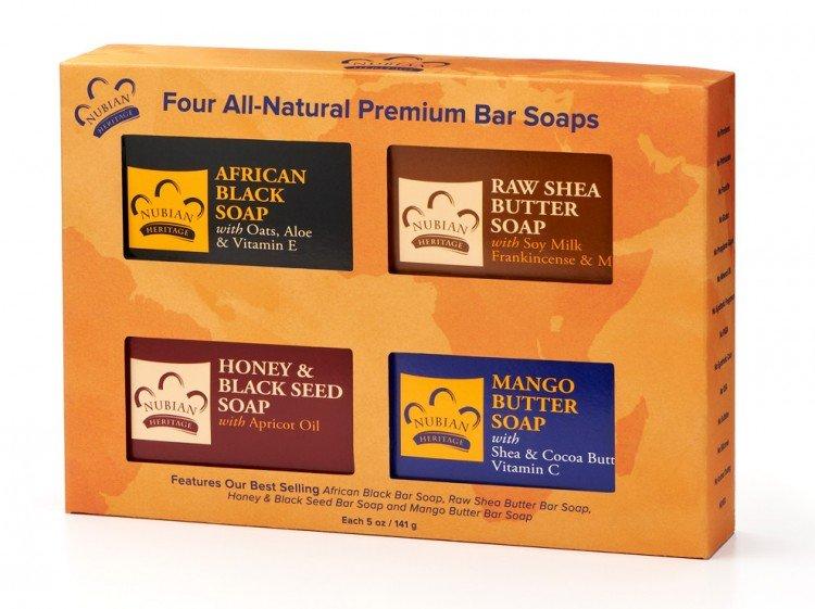 nubian heritage premium bar soap set