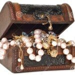 treasure chest with jewelry