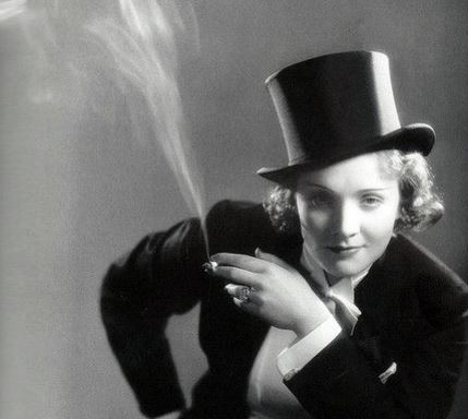 Marlene Dietrich in top hat