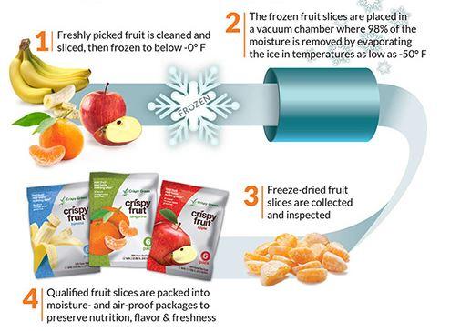 freeze dried fruit process