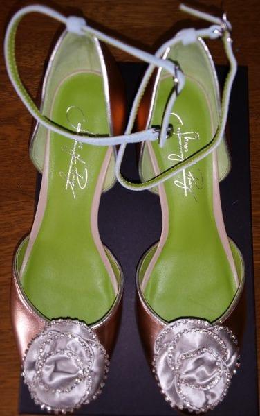 Shoes of Prey Alison Blackman's sample shoes top view