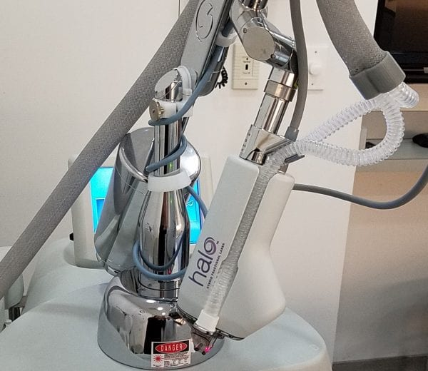 Halo Laser closeup