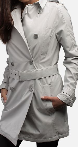 """SeV Women's Trench Coat by SCOTTeVEST in """"mist"""""""