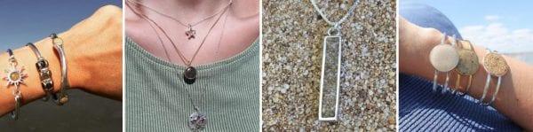dune jewelry collage beach sand