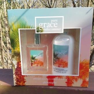 pure grace endless summer fragrance body emulsion and fragrance set