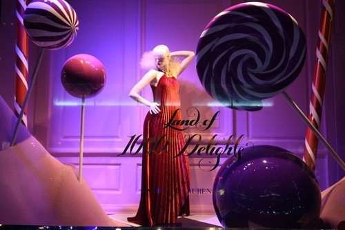 NEW YORK - DECEMBER 21, 2016: Holiday window display at Saks Fifth Avenue in NYC on December 21, 2016.